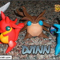 Golden Sun Clay DJINN by MacX5