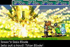 Golden Sun Unleash Gaia Blade